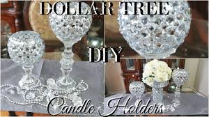 Diy Gold Candle Holders Diy Dollar Tree Bling Candle Holders 2017 Petalisbless Youtube