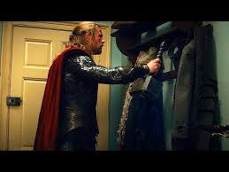 The Coat Rack Thor Hangs His Hammer On Coat Rack Scene Thor The Dark World 100
