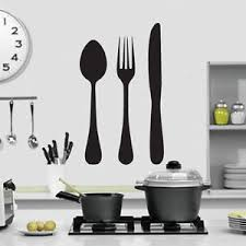 image is loading knife fork and spoon kitchen wall art design  on knife fork spoon kitchen wall art with knife fork and spoon kitchen wall art design kitchen themed wall