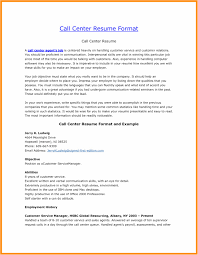 Sample Resume For Bpo Jobs Elegant Resume Format For Call Center Job