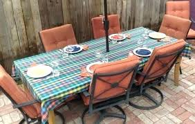 patio table cloth tablecloths s fitted rectangular tablecloth outdoor living easy care round vinyl rniture dining set