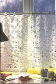 Patterns For Kitchen Curtains 15 Best Ideas About Crochet Curtains On Pinterest Curtain