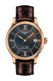 image of tissot women s le locle powermatic 80 croc embossed leather strap watch