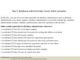 top 5 database administrator cover letter samples in this file you can ref cover letter database administrator cover letter