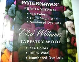 Paternayan Persian Yarn Color Chart Paternayan Elsa Williams Yarn Color Card Chart Tapestry Wool Crewel Needlepoint Supply Koochiekoo