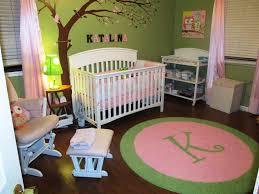 image of pink round nursery rugs