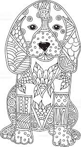 Small Picture Dog Adult Antistress Or Children Coloring Page stock vector art