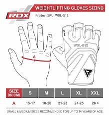 Lacrosse Glove Size Chart Rdx S12 Leather Fitness Training Gloves