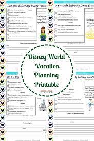 Disney World Vacation Planning Guide Free Disney Planning Printables