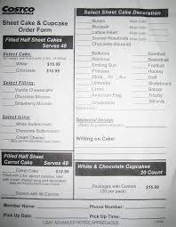 Costco Cake Designs 2019 Costco Cake Order Form Cakepins Com Costco Cake Order