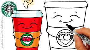 cute starbucks drawing.  Starbucks How To Draw A Hot Starbucks Drink Step By Easy And Cute  Winter  Holiday YouTube Throughout Drawing O