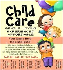 Daycare Flyer Templates Kids Activity Home Day On Daycare Flyers