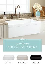 Farmhouse Style Kitchen Sinks 25 Best Ideas About Fireclay Sink On Pinterest Farm Style