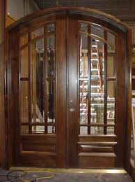 arched double front doors. Custom Doors - Walnut Double Arched Entry With Tempered Glass Inserts Front D