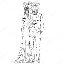 Fashion Couple Of Leopard And Zebra Stock Vector Olgaangelloz