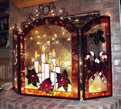 stained glass fire screens fire place screen from artist gallery by stained glass fireplace screen