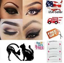 2 pcs cat eyeliner stencil matte pvc material repeatable use smokey eye stencil 709327058441 ebay