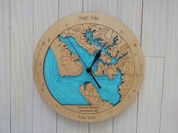 wooden tide clock kaipara harbour detail