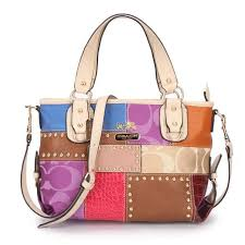 Coach Holiday Matching Stud Medium Ivory Multi Totes EBT Clearance Sale  Outlet