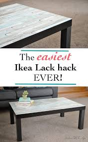 The Easiest Ikea Lack Hack ever | Lack table hack, Ikea lack hack ...