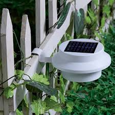 solar powered led fence light outdoor garden wall lobby pathway warm white light lamp white