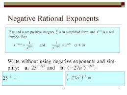 negative rational exponents