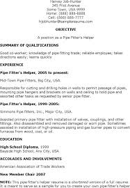 Pipefitter Resume Sample Unique Journeyman Pipefitter Resume Helper Resume Resume Templates Word For