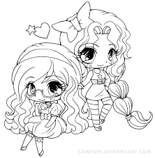 chibi anime girls coloring pages coloringstar for cute designs 11