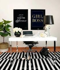 white office decor. Office Decor Astounding Black And White 9 Gold Foil Print Girl Boss Art . F