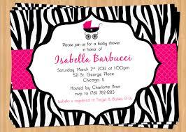 Simple U0026 Elegant Hot Pink Zebra Baby Girl Shower Invitations Pink Zebra Baby Shower Invitations