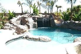 backyard pool with slides. Pool Rock Slide Grotto With Designs Slides  Backyard Pools And Yard . E