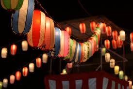 ゆんフリー写真素材集 No 1224 夏祭りの提灯 日本 東京