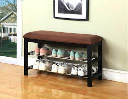 Coat Rack With Bench Seat Metal Entryway Bench With Wood Seat Shoe Coat Rack Storage Hooks 81