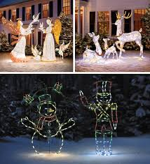 add holiday sparkle to your home both day and night with lighted outdoor christmas yard decorations if you have a religious scene the stunning christmas