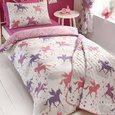 unicorns and stars king size bedding magical pink purple