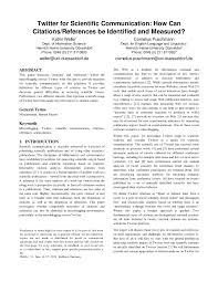 Pdf Twitter For Scientific Communication How Can Citations
