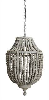 diy beaded chandelier unique made of wood and metal beading with a light grey wash this