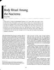 anth ch article body ritual among the nacirema body ritual 4 pages body ritual among the nacirema miner