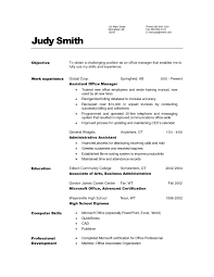 Resume Objective Examples Office Manager Resume Ixiplay Free