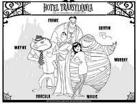 Kleurplaten Hotel Transylvania Morning Kids