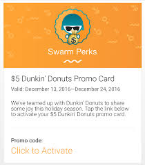 free 5 dunkin donuts gift card