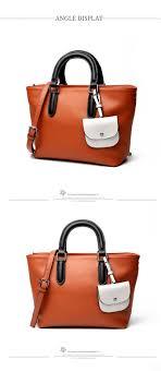 genuine leather designer handbag for women