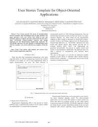 User Story Requirements Template Pdf User Stories Template For Object Oriented Applications