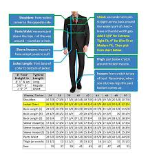 Slim Fit Suit Size Chart Best Picture Of Chart Anyimage Org