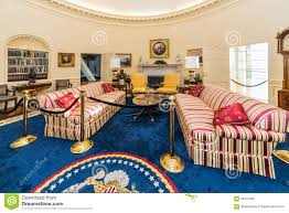 the white house oval office. Little Rock, AR/USA - Circa February 2016: Replica Of White House S Oval Office In Bill Clinton Presidential Center And Library. Arkansas, Architecture. The