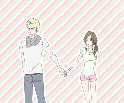 anime holding hands and walking.  Walking Intended Anime Holding Hands And Walking E