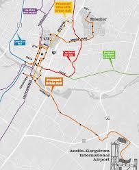Austin 2000 Light Rail The Overhead Wire Austins Rail History Route Choice