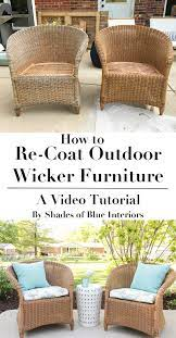 how to re coat wicker furniture