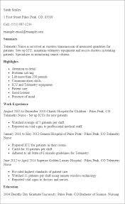 Critical Care Transport Nurse Sample Resume Classy Telemetry Rn Resumes Engneeuforicco