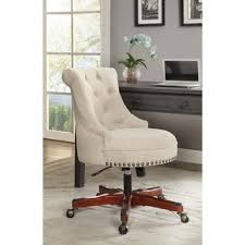 upholstered office chairs. Brilliant Office Linon Pamela White Upholstered Office Chair And Chairs